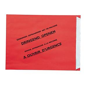 Special envelopes registered shipment Belgium 240x300x35mm red - box of 500