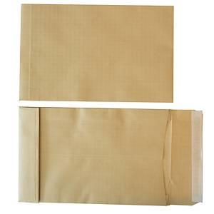 Pochettes indéchirables brunes Gascofil, bande siliconée, 300 x 470 mm, les 50