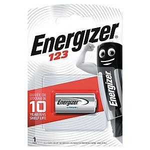Baterie Energizer, 3V/123, lithiová, 1 kus v balení