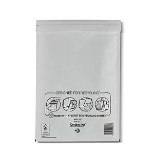 Mail Lite White Bubble Lined Postal Bags F/3 220 X 330mm - Box of 50