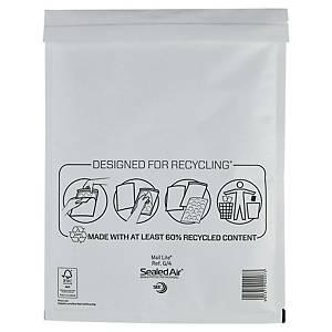 Mail Lite® papieren luchtkussenenveloppen, 240 x 330 mm, wit, doos van 50 stuks
