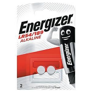 Piles Energizer Alcalines LR54/189, pile bouton, paq. 2unités