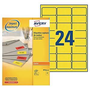 Etiquette photocopieur Avery - DP24J-100 -70 x 35 mm - jaune fluo - par 2400