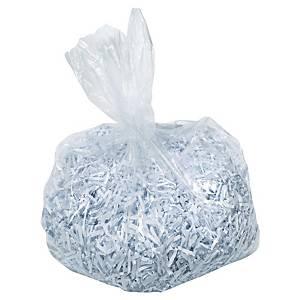 Sacs poubelle Rexel AS1000 pour broyeur papier, 115 litres, le paquet de 100