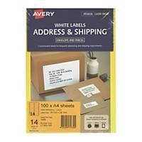 Avery 艾利 L7163-100 鐳射列印標籤 99.1x38.1毫米 每張14個標籤