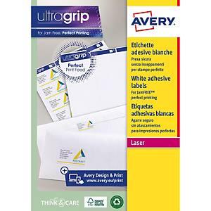 Caja de 100 etiquetas adhesivas Avery L7167-100 - 199,6 x 289 mm - blanco