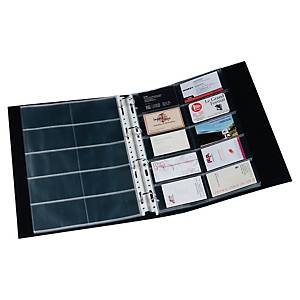 Lyreco punched pockets for 20 business cards A4 pocket 11/100e PP - pack 10