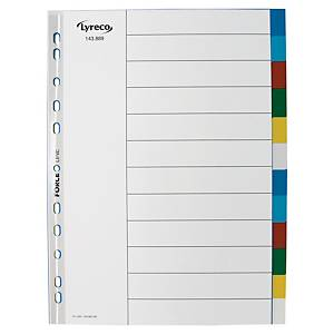Lyreco neutral dividers 12 tabs PP 11-holes