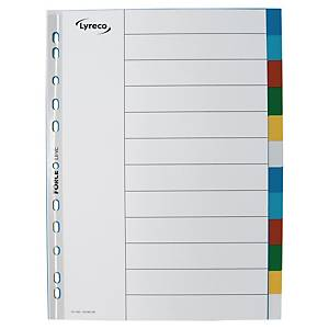 Lyreco A4 Multi-color Subject Divider 12 Tabs
