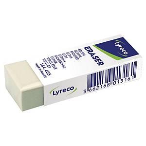 Gomme Lyreco, pour crayon, fourreau en carton, la pièce