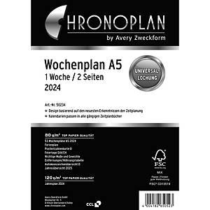Wochenplan 2021 Chronoplan 50239, 1 Woche / 2 Seiten, A5