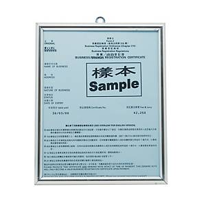Business Registration Frame Silver