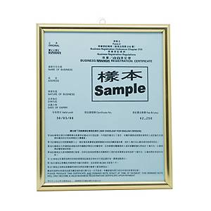 Business Registration Frame Gold