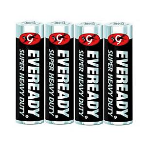 EVEREADY 1215 CARBON ZINC BATTERIES AA PACK OF 4