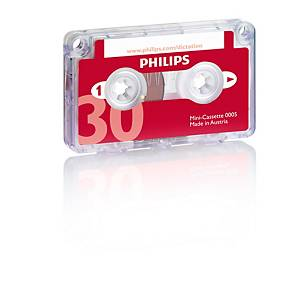 Philips LFH 0005 mini audiocassette voor analoge dictafoon