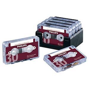 Minikassette Philips LFH0005, 2x15 Minuten, Packung à 10 Stück