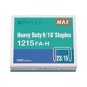 MAX No.23/15 Staples - Box of 1000