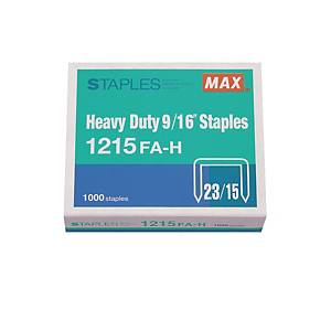 MAX No.23/15 Staples - Box of 1000