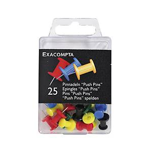 Pin-Nadeln Exacompta, Spitze 7mm, assortiert