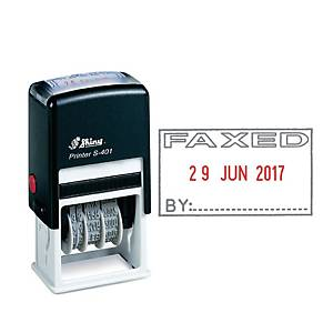 Shiny S-403 Faxed Self-Inking Dater Stamp 2-Colour