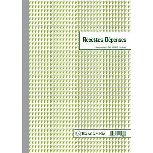 Exacompta 13500E RECETTES DÉPENSES, 50 doorschrijfpapier dupli