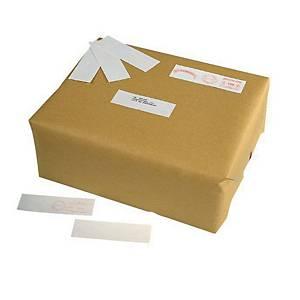 Witte etiketten voor frankeermachines, 140 x 40 mm, per 500 etiketten
