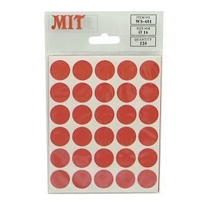 MIT火漆標籤 (直徑16毫米) 每包120個標籤