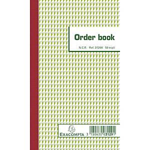 Exacompta ORDER BOOK 3129X, gelijnd 175x105 mm, 50 blad doorschrijfpapier tripli