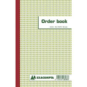 Exacompta ORDER BOOK 3137X, gelijnd, 210x135mm, 50 blad doorschrijfpapier tripli