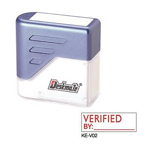 Deskmate KE-V02 [VERIFIED BY: ____] Stamp