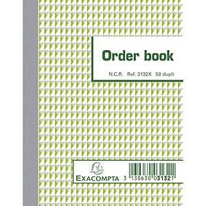 Exacompta ORDER BOOK 3132X, gelijnd, 135x105 mm, 50 blad doorschrijfpapier dupli