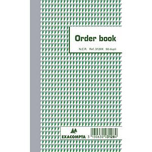 Exacompta ORDER BOOK 3128X, gelijnd, 175x105 mm, 50 blad doorschrijfpapier dupli