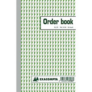 Exacompta ORDER BOOK 3136X, gelijnd, 210 x135mm, 50 blad doorschrijfpapier dupli