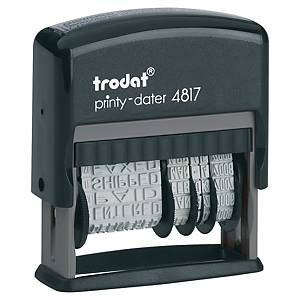 Trodat 4817 Printy Self-Inking Dial-A-Phrase Dater Stamp - 3.8mm Character Size