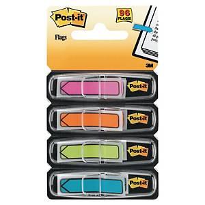 Marque-pages Post-it flèches avec distributeur - pastel - 4 x 24 feuilles