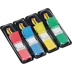 Index-Spender 3M Post-it 683, mit 140 Haftstreifen, 4x35 St(rot/blau/grün/gelb)