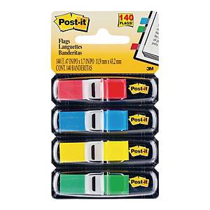 Post-It Index Flags 12mm 4 X 35 - Pack