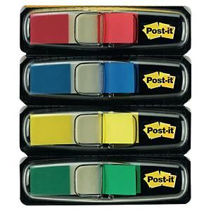 Pack de 4 dispensadores Post-it Index pequeños - colores clásicos