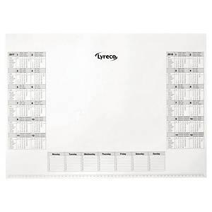 Lyreco refill desk mat 25 sheets 41x57cm