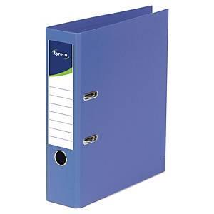 Lyreco ordners met hefboom, A4, PP, rug 80 mm, blauw, per ordner