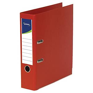 Lyreco ordners met hefboom, A4, PP, rug 80 mm, rood, per ordner