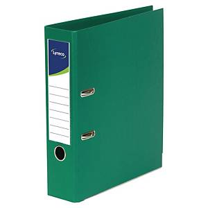 Lyreco Polypropylene Green A4 Upright Lever Arch File - Box Of 10