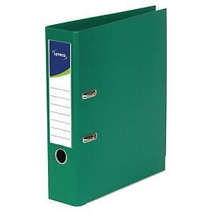 Lyreco ordners met hefboom, A4, PP, rug 80 mm, groen, per ordner
