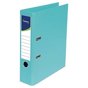 Lyreco lever arch file PP spine 80 mm mint green