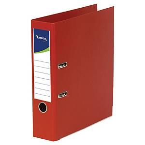 Lyreco ordners met hefboom, A4, PP, rug 45 mm, rood, per ordner