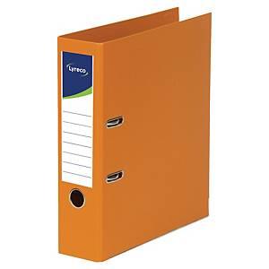 Pákový zakladač Lyreco, celoplastový, šírka chrbta 5 cm, oranžový