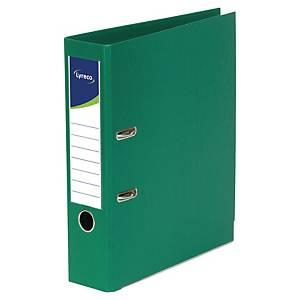 Pákový pořadač Lyreco, celoplastový, šířka hřbetu 5 cm, zelený