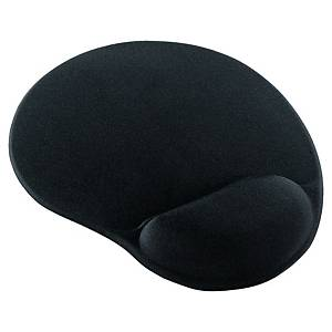 Mouse pad with wrist rest gel - black