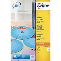 Avery L7676-25* Data Storage Labels, Ø 117 mm, 2 Labels Per Sheet