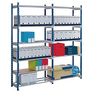 Paperflow Rangeco rek aanbouwelement 5 niveaus, B 100 x H 200 x D 34 cm, metaal